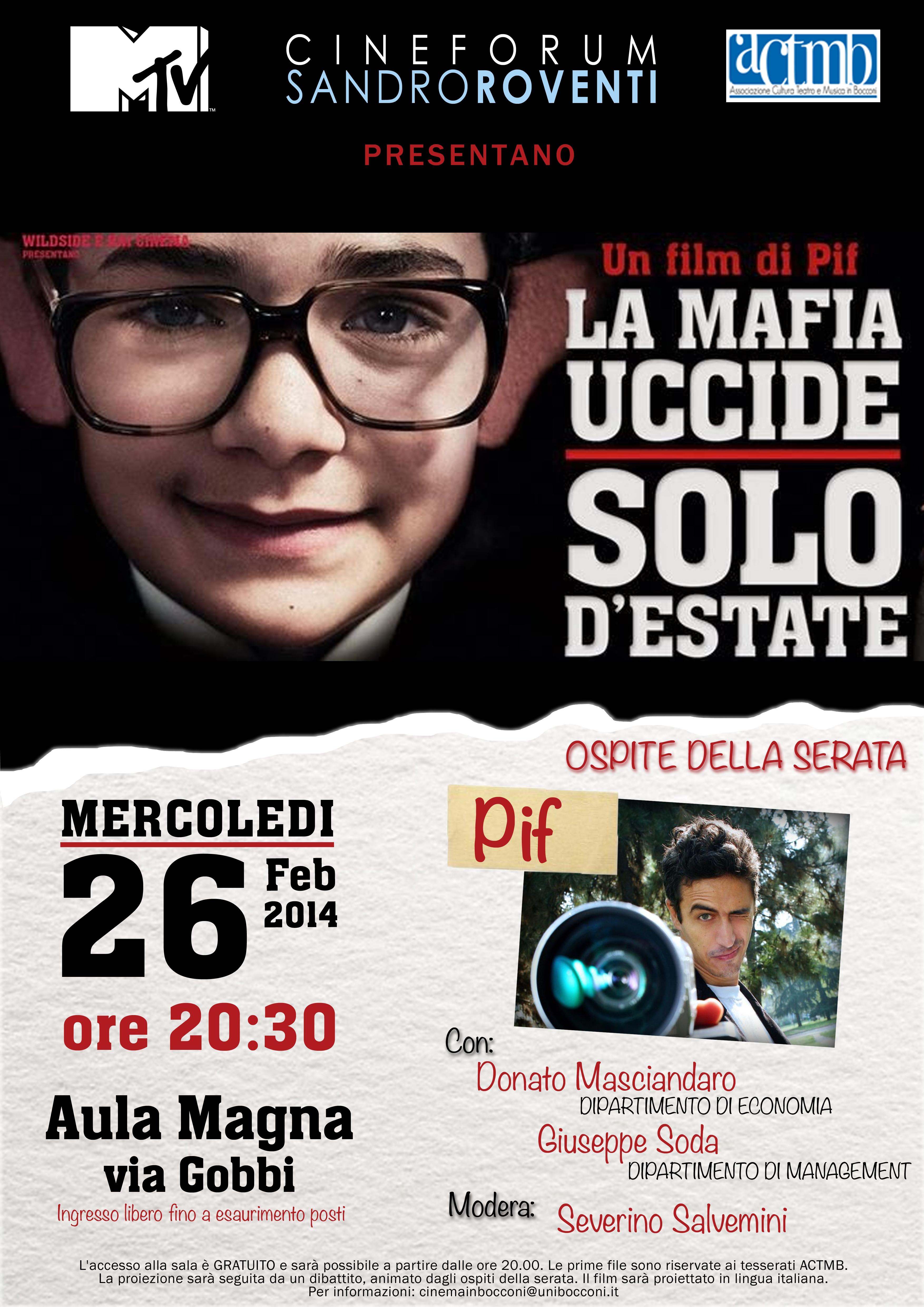 la mafia uccide solo d'estate locandina 26 febbraio