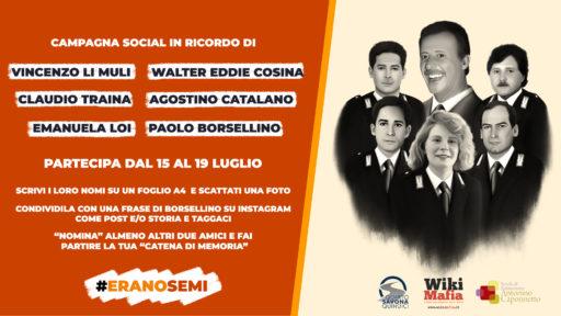 #EranoSemi, ricordiamo Paolo Borsellino sui social