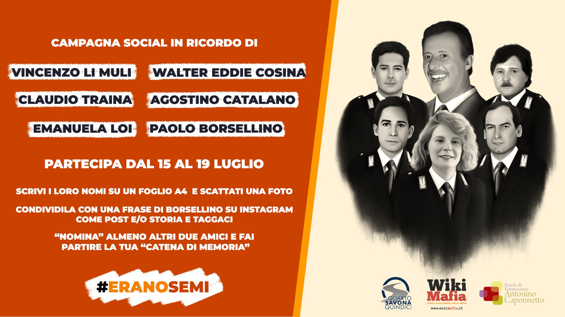 #EranoSemi Paolo Borsellino