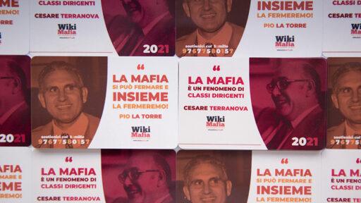 WikiMafia, Tessera 2021 dedicata a Pio La Torre e Cesare Terranova
