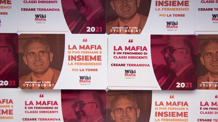 Tessera WikiMafia 2021 Pio La Torre Cesare Terranova