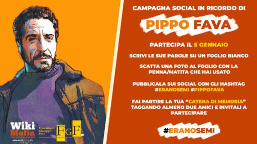 #EranoSemi, ricordiamo Pippo Fava sui social