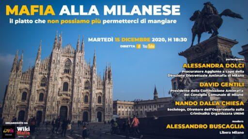 MAFIA alla milanese – in diretta mercoledì 15 dicembre