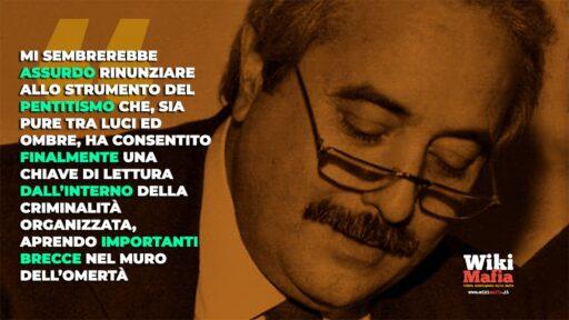 """Giovanni Falcone: """"I benefici per i pentiti servono"""""""